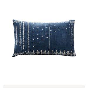 Potterybarn shibori embroidered pillowcase